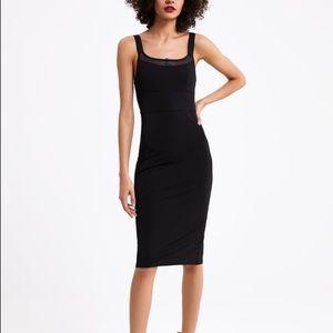 Zara black fitted dress